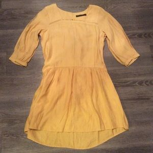 🌷 Zara yellow lace tie yellow Dress mini cute S